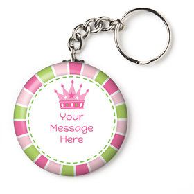 "Little Princess Personalized 2.25"" Key Chain (Each)"