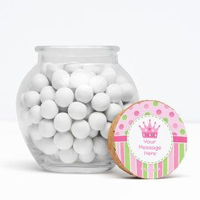 """Little Princess Personalized 3"""" Glass Sphere Jars (Set of 12)"""