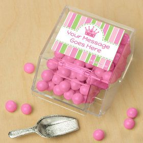 Little Princess Personalized Candy Bin with Candy Scoop (10 Count)