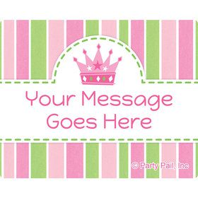 Little Princess Personalized Rectangular Stickers (Sheet of 15)