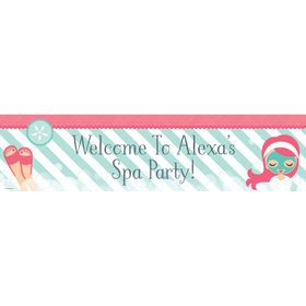 Little Spa Party Personalized Banner (each)