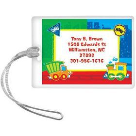Little Truck Party Personalized Luggage Tag (each)
