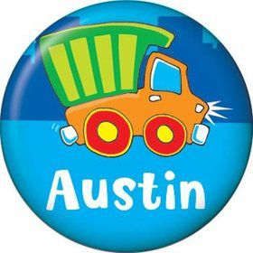 Little Truck Party Personalized Mini Magnet (each)