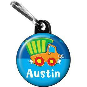 Little Truck Party Personalized Mini Zipper Pull (each)