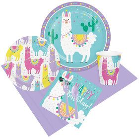 Llama Party Happy Birthday Party Pack for 8