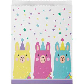 Llama Party Paper Treat Bags (10)