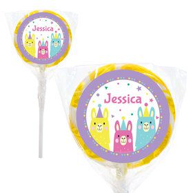 "Llama Party Personalized 2"" Lollipops (20 Pack)"