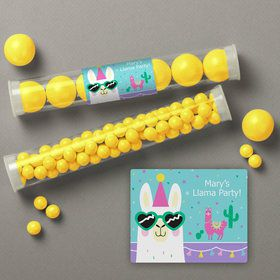 Llama Party Personalized Candy Tubes (12 Count)
