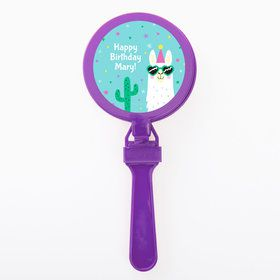 Llama Party Personalized Clappers (Set of 12)