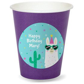 Llama Party Personalized Cups (8)