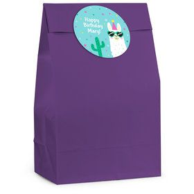 Llama Party Personalized Favor Bag (12 Pack)