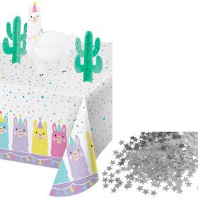 Llama Party Table Decorating Kit