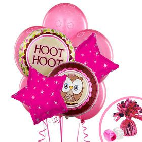 Look Whoo's 1 Pink Balloon Bouquet
