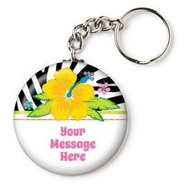 "Luau Fun Personalized 2.25"" Key Chain (Each)"