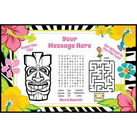 Luau Fun Personalized Activity Mat (8 Count)