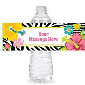 Luau Fun Personalized Bottle Label (Sheet of 4)