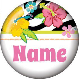 Luau Fun Personalized Mini Magnet (Each)