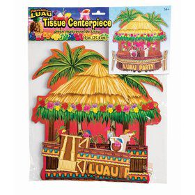 "Luau Honey Comb 10"" Tiki Bar Centerpiece"