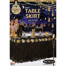 "Luau Luxe Deluxe 9' x 30"" Table Skirt"