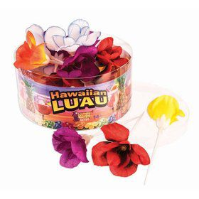 Luau-Pastel Flower Picks-24Pcs