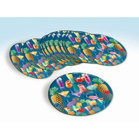 Luau Tropical Drink Coaster Set (12 Count)