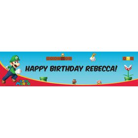 Luigi (Super Mario Bros) Personalized Banner (each)
