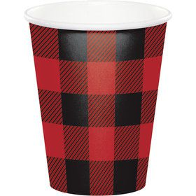 Lumberjack Plaid 9oz Cups (8 Count)