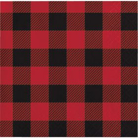 Lumberjack Plaid Beverage Napkins (16 Count)