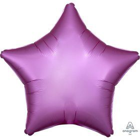 Luxe Sateen 19 Foil Star Balloon - Flamingo