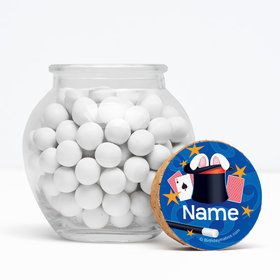 "Magic Personalized 3"" Glass Sphere Jars (Set of 12)"