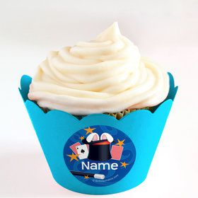 Magic Personalized Cupcake Wrappers (Set of 24)