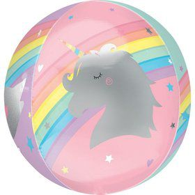 "Magical Rainbow 16"" Orbz Balloon"