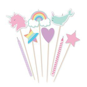 Magical Rainbow Birthday Candle Set (8)