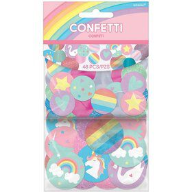 Magical Rainbow Birthday Giant Glitter Confetti