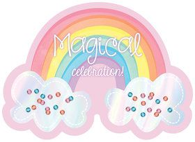 Magical Rainbow Birthday Invitations (8)