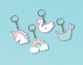 Magical Rainbow Birthday Keychain Favors (8)