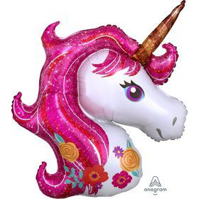 Magical Unicorn 33 Jumbo Shaped Foil Balloon