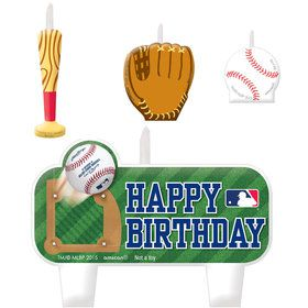 Major League Baseball Molded Cake Candles (4)