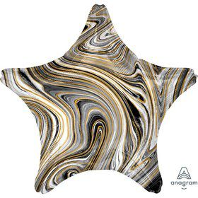 "Marblez Black 19"" Star Foil Balloon"