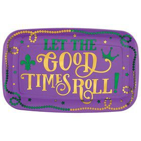 Mardi Gras Let the Good Times Roll Platter