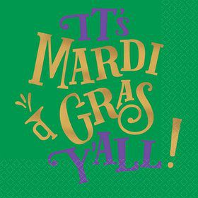 Mardi Gras Y'all Beverage Napkins (16)