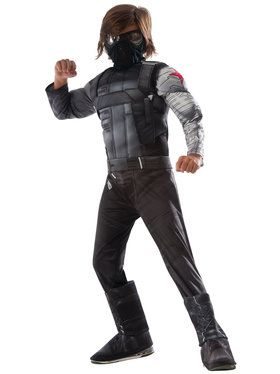 Marvel's Captain America: Civil War Winter Soldier Deluxe Muscle Chest Child Costume Small (4-6)