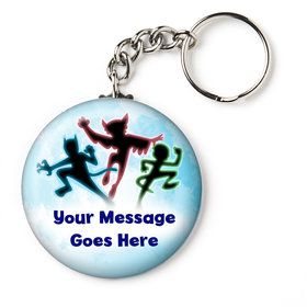 """Masked Heroes Personalized 1"""" Mini Key Chain (Each)"""