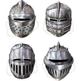Medieval Knight Masks (Set Of 4)