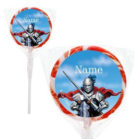 "Medieval Knight Personalized 2"" Lollipops (20 Pack)"