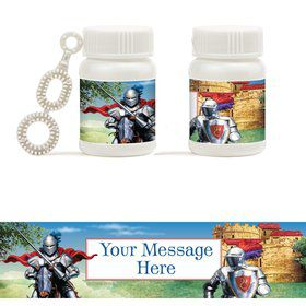 Medieval Knight Personalized Bubbles (18 Pack)