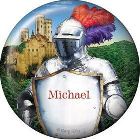 Medieval Knight Personalized Button (each)
