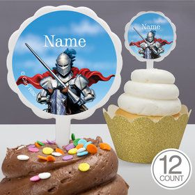 Medieval Knight Personalized Cupcake Picks (12 Count)