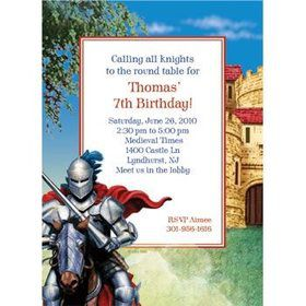 Medieval Knight Personalized Invitation (each)