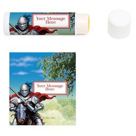 Medieval Knight Personalized Lip Balm (12 Pack)